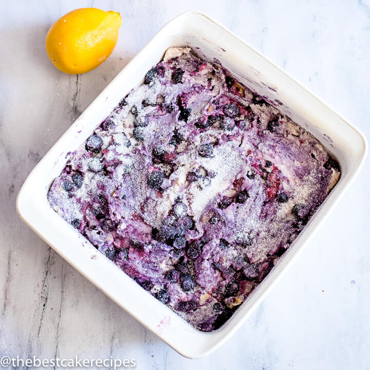 unbaked lemon blueberry coffee cake