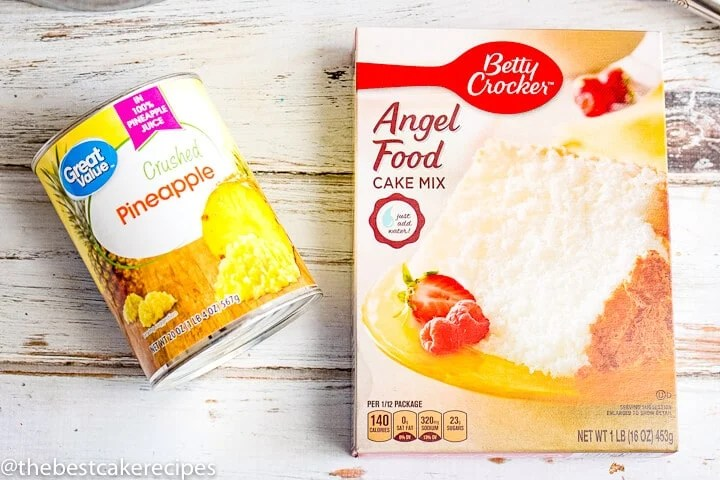 box angel food cake mix and pineapple