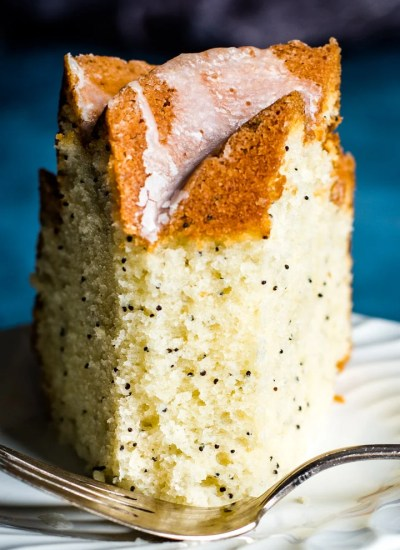 face on Poppy Seed Bundt Cake
