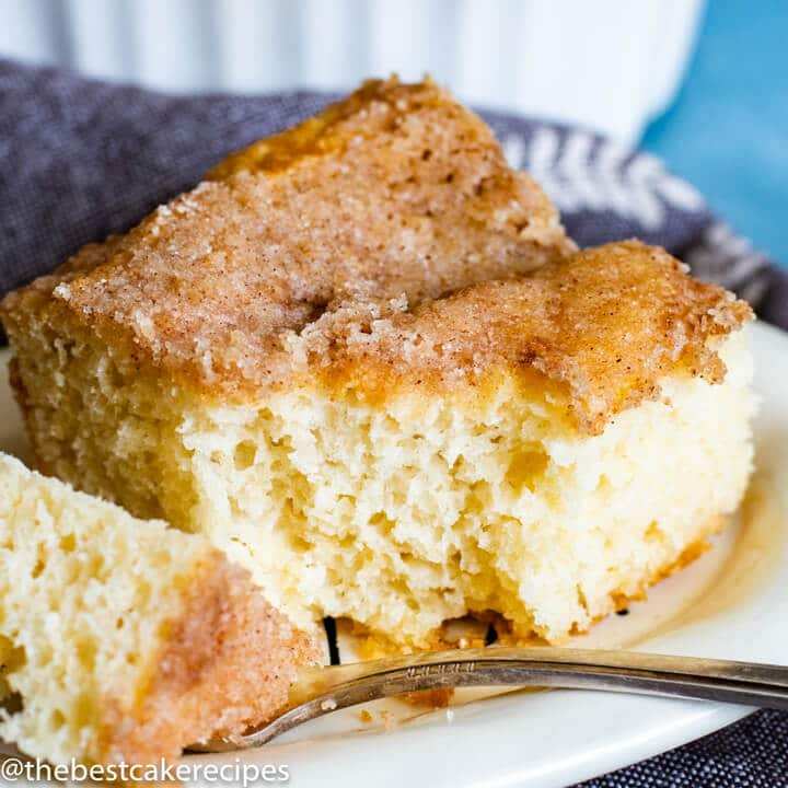 cinnamon cake on a plate