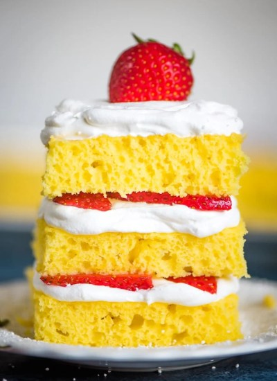 stack of 4 Ingredient Lemon Cake