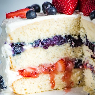 Patriotic Berry Cake