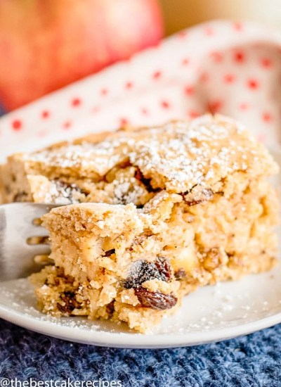 Easy Applesauce Cake with raisins and nuts