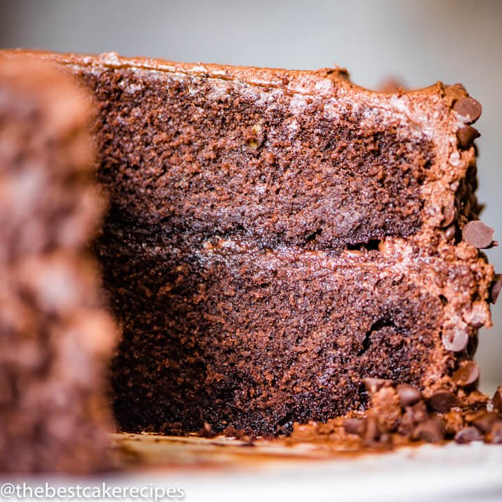 2 layer Barley Flour Chocolate Cake