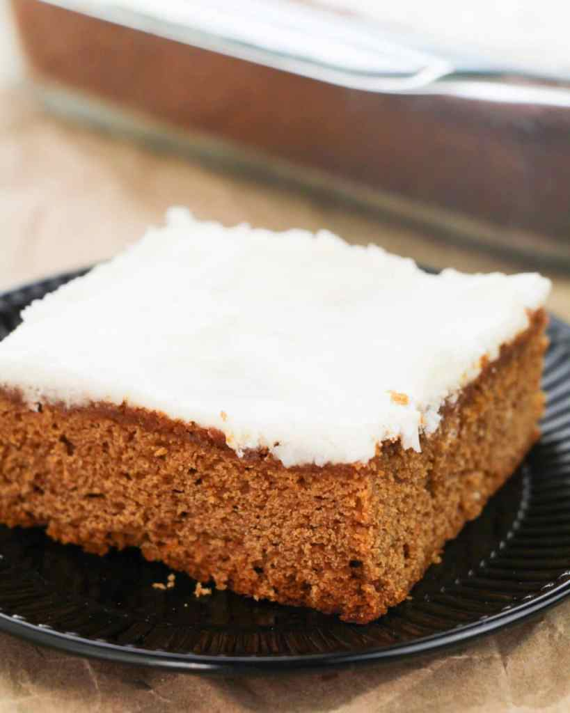 Easy Apple Butter Cake on a plate