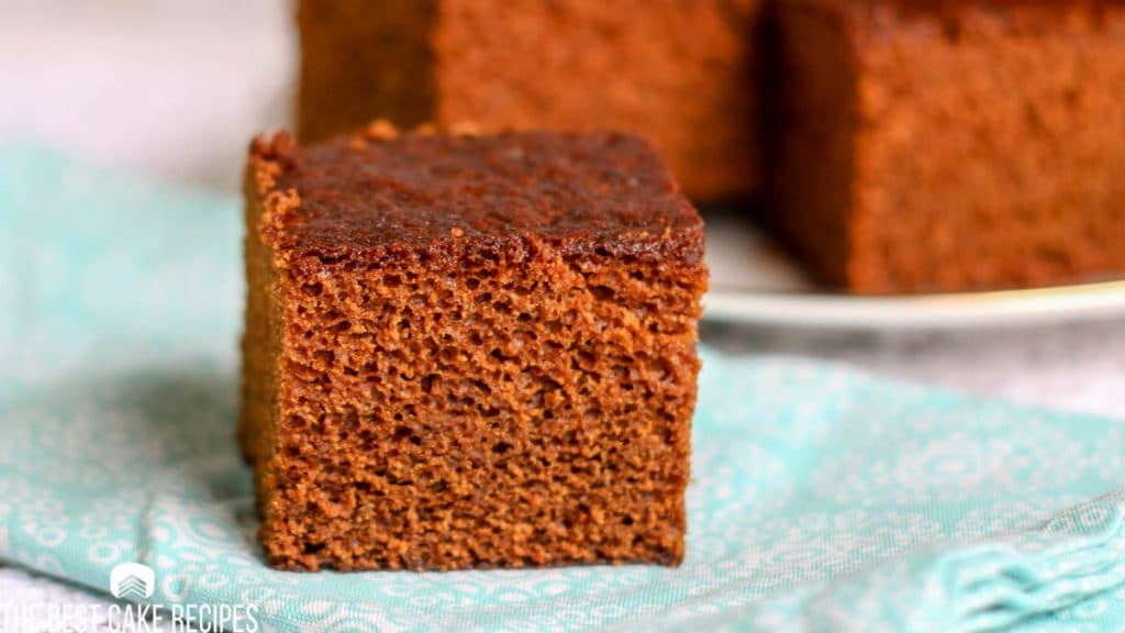 slice of Gingerbread Cake on a napkin