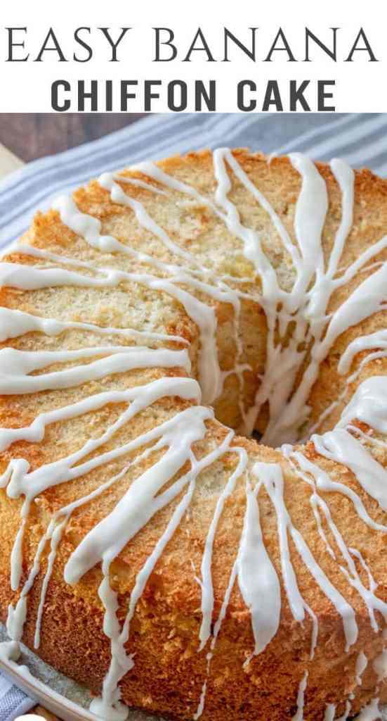 title image of banana chiffon cake