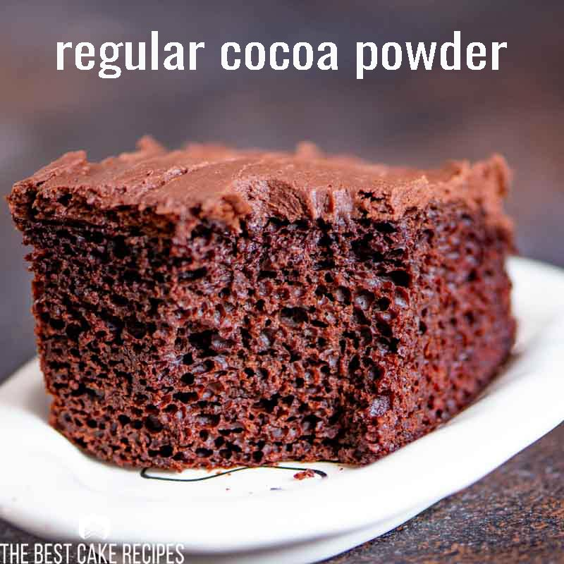 cake with regular cooca powder