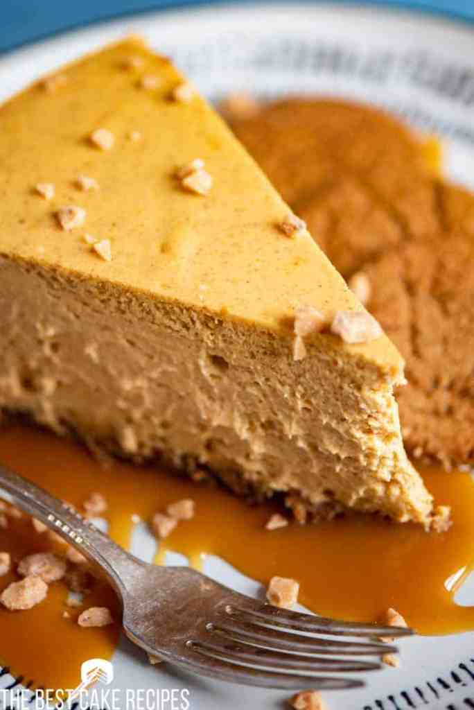 pumpkin cheesecake with toffee