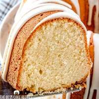 glazed French Vanilla Butternut Pound Cake