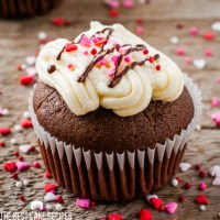 Frosted Double Chocolate Valentine's Day Cupcakes