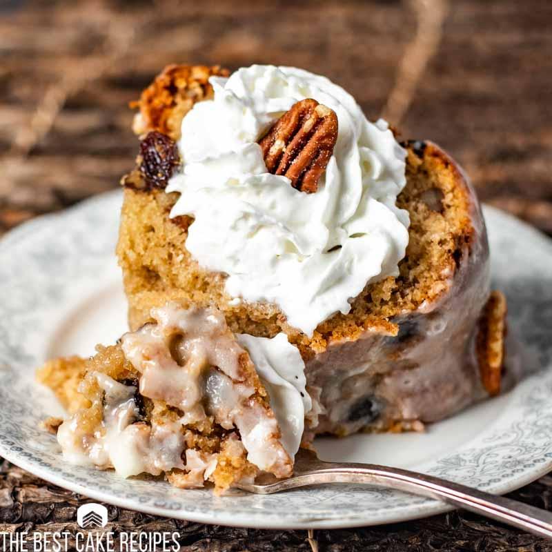 Pecan Raisin Bourbon Cake
