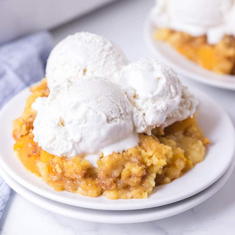 Peach Dump Cake from cake mix