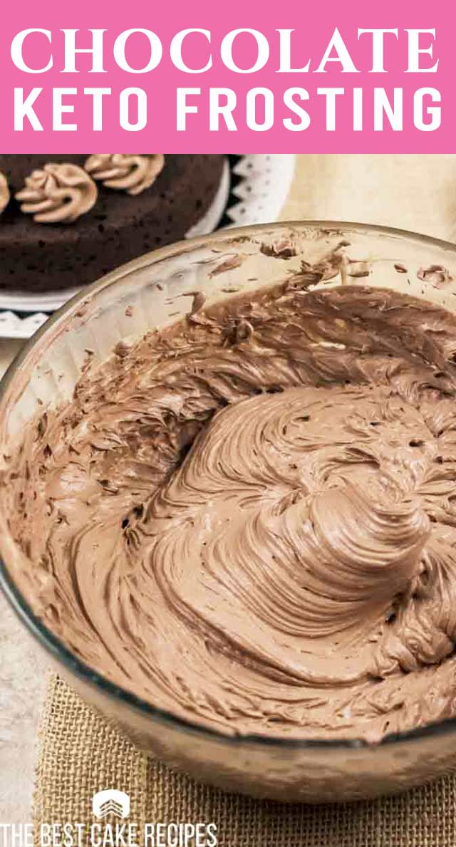 Enjoy all of the taste and none of the guilt with this Keto chocolate buttercream frosting. A creamy and delicious frosting to top all your low-sugar recipes! via @thebestcakerecipes