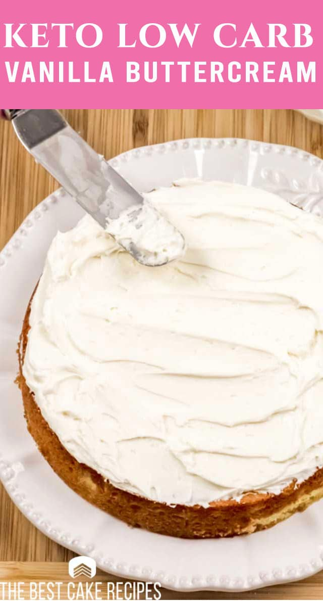 Your low carb answer to all of our sweet cravings! This versatile keto vanilla buttercream frosting is perfect for cakes, cookies and cupcakes. via @thebestcakerecipes