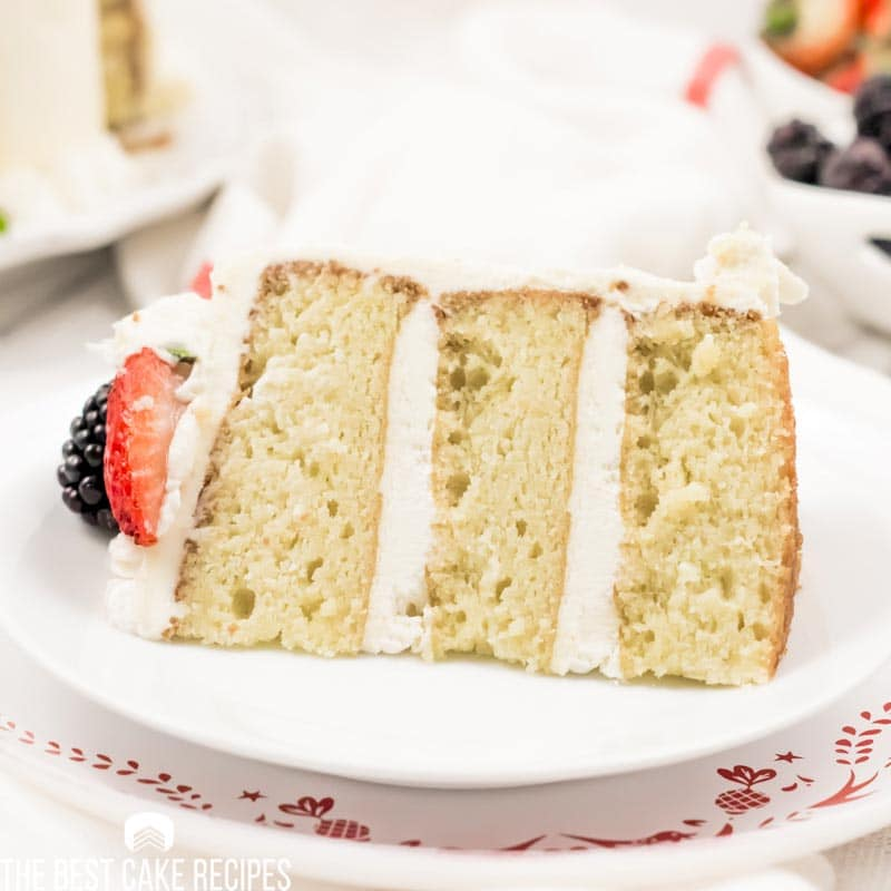 slice of Low Carb Vanilla Cake