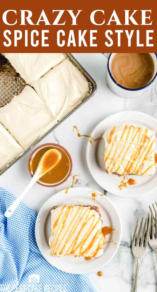 This yummy from-scratch cake recipe is also one of the easiest homemade cake recipes out there! Make this spice crazy cake using only one baking dish and basic pantry ingredients! via @thebestcakerecipes
