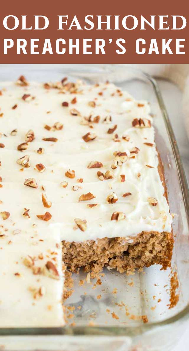 A southern favorite! This jazzed up boxed cake mix is filled with pantry staples. Preacher Cake was a classic cake made when the preacher cake to visit. via @thebestcakerecipes