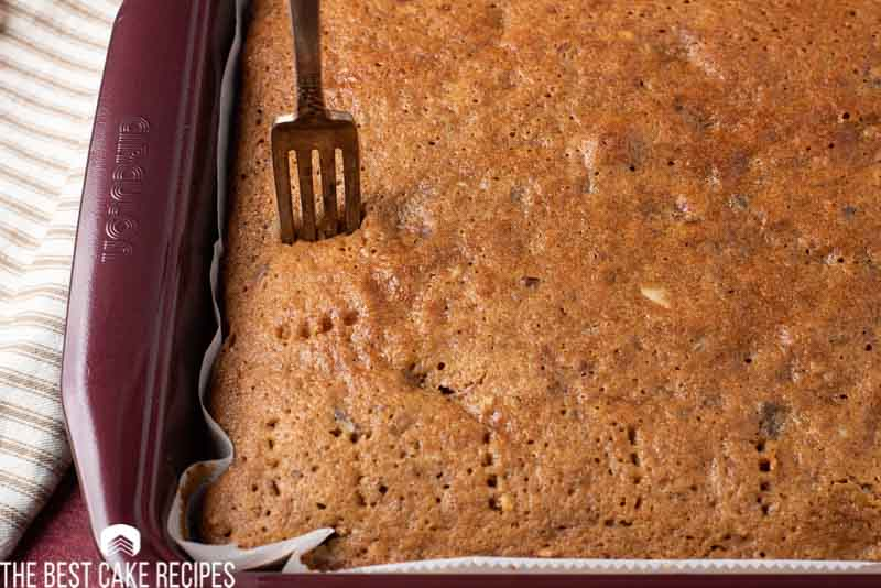 poking holes in prune cake