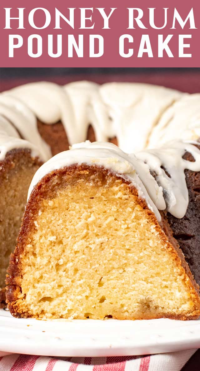 Moist, easy and delicious this Rum-Soaked Honey Pound Cake is the perfect blend if flavors. And made in a bundt cake, it's a gorgeous presentation! via @thebestcakerecipes
