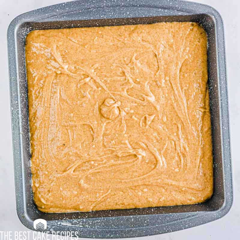 unbaked gingerbread poke cake