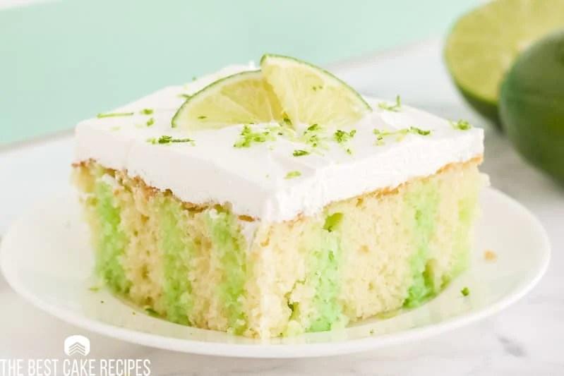 lime jello poke cake