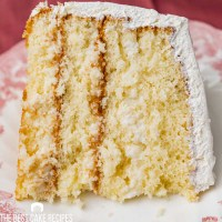 a piece of coconut cake on a plate