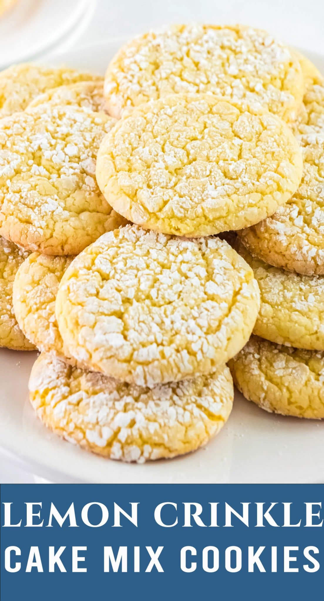 5 ingredient Lemon Crinkle Cake Mix Cookies are perfect when you need a quick dessert. Sweet & tangy with double the lemon flavor. via @thebestcakerecipes