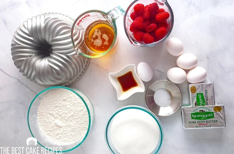 ingredients for raspberry moscow mule cake