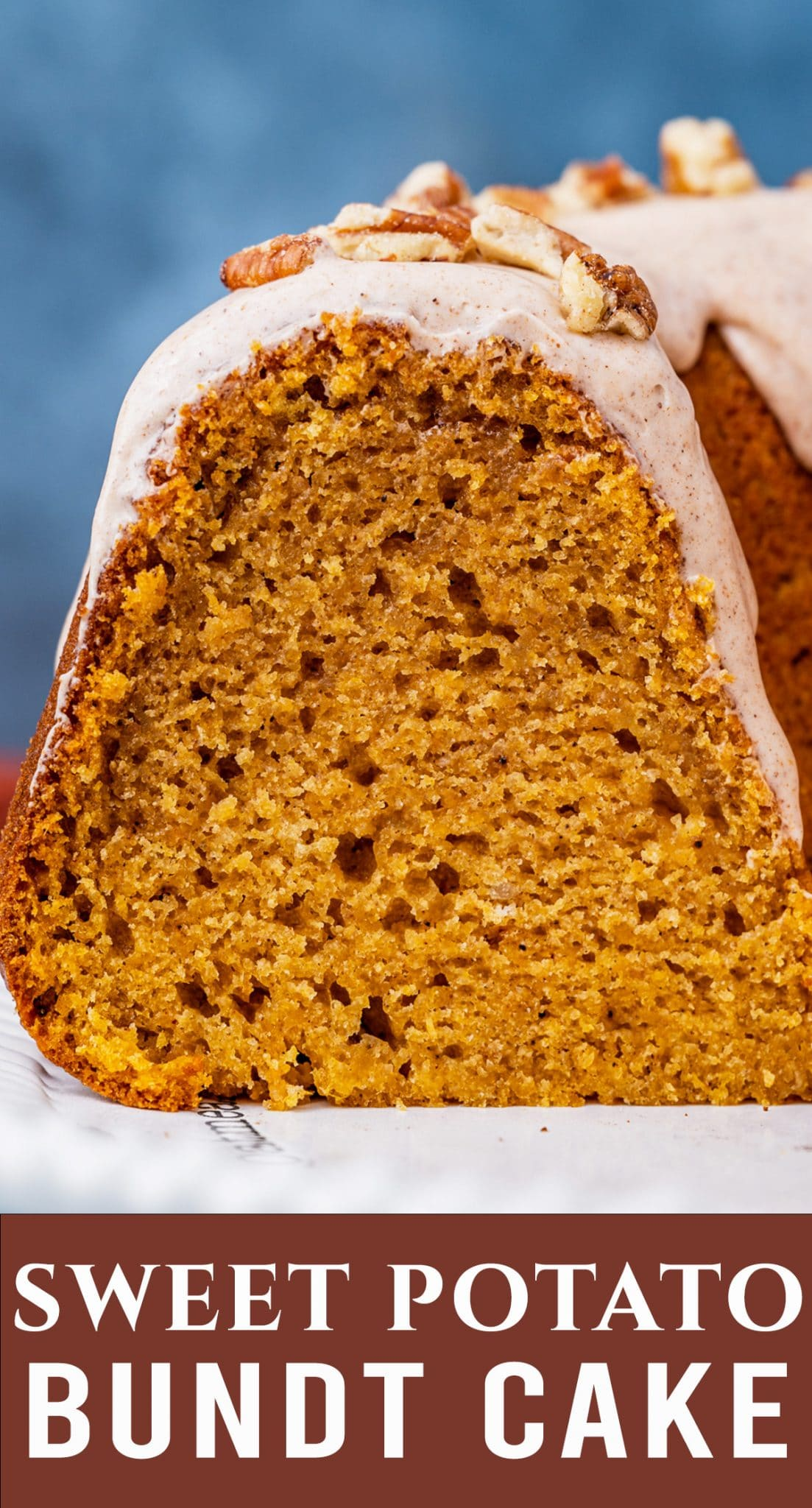 Old Fashioned Sweet Potato Bundt Cake is delicious and comforting. Features real mashed sweet potatoes and a cinnamon sugar glaze. via @thebestcakerecipes