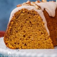 sweet potato bundt cake on a plate