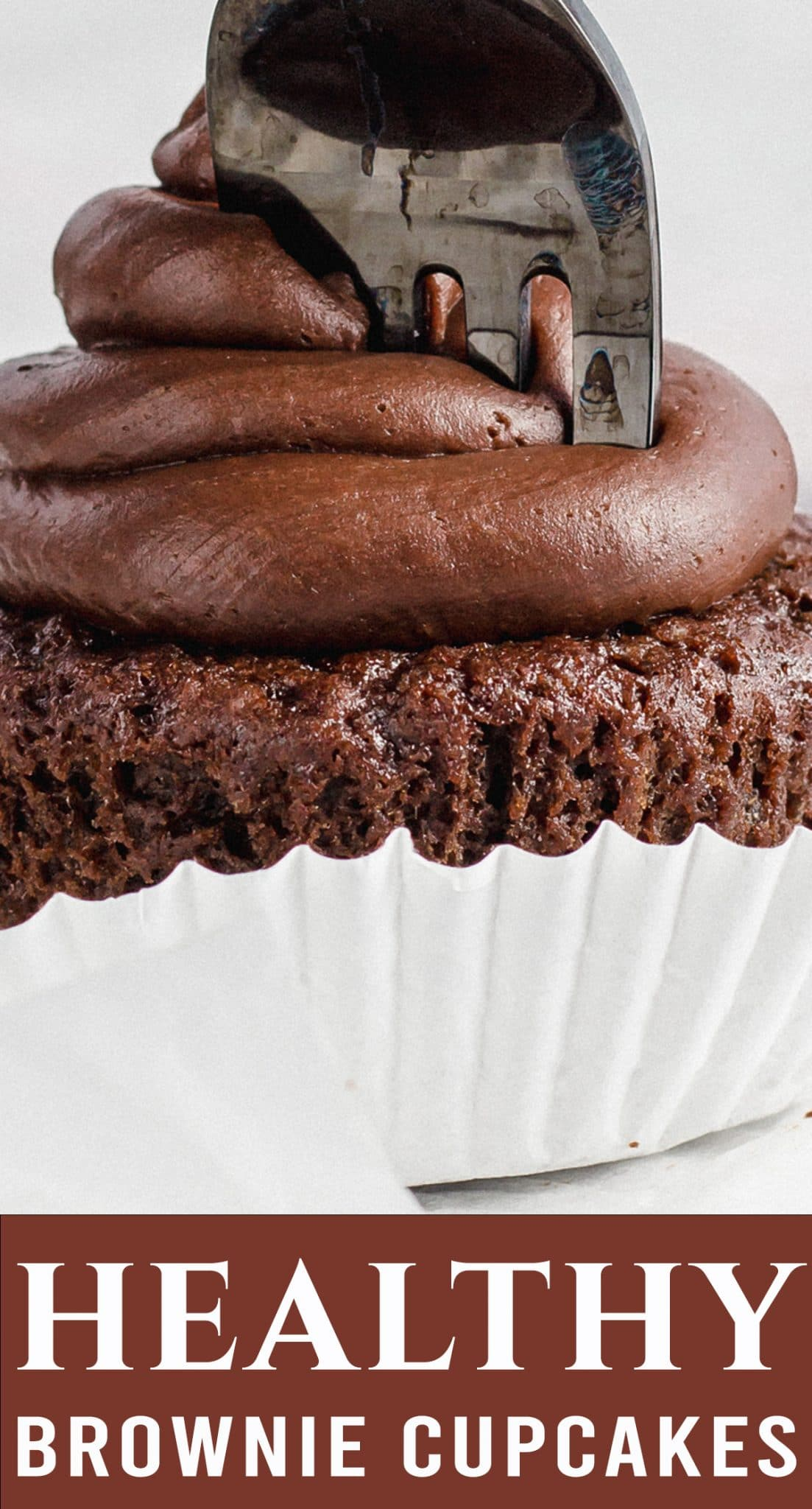 Gluten free and vegan brownie cupcakes are for the serious chocolate lover. You'll love the easy homemade chocolate frosting piled on top. via @thebestcakerecipes
