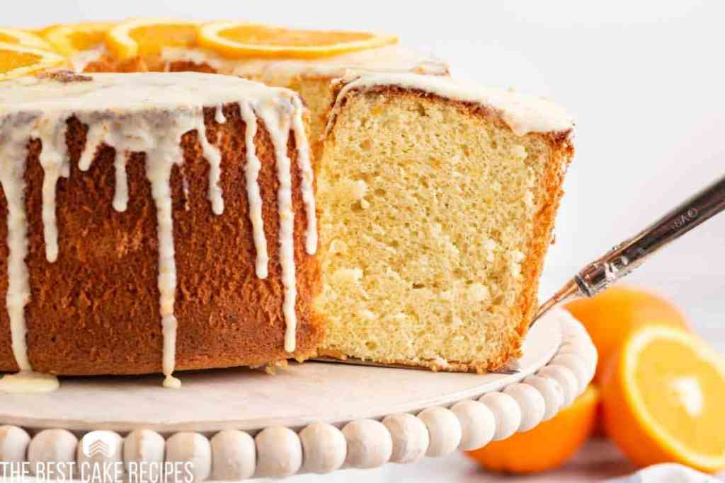 a slice of cake on a spatula