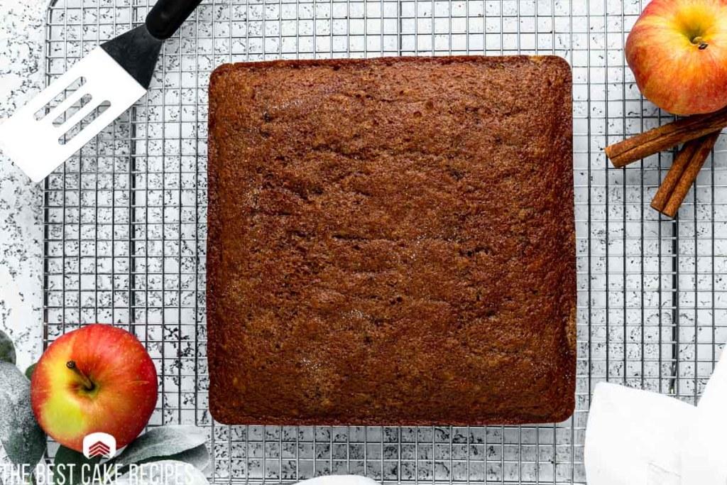 a square spice cake