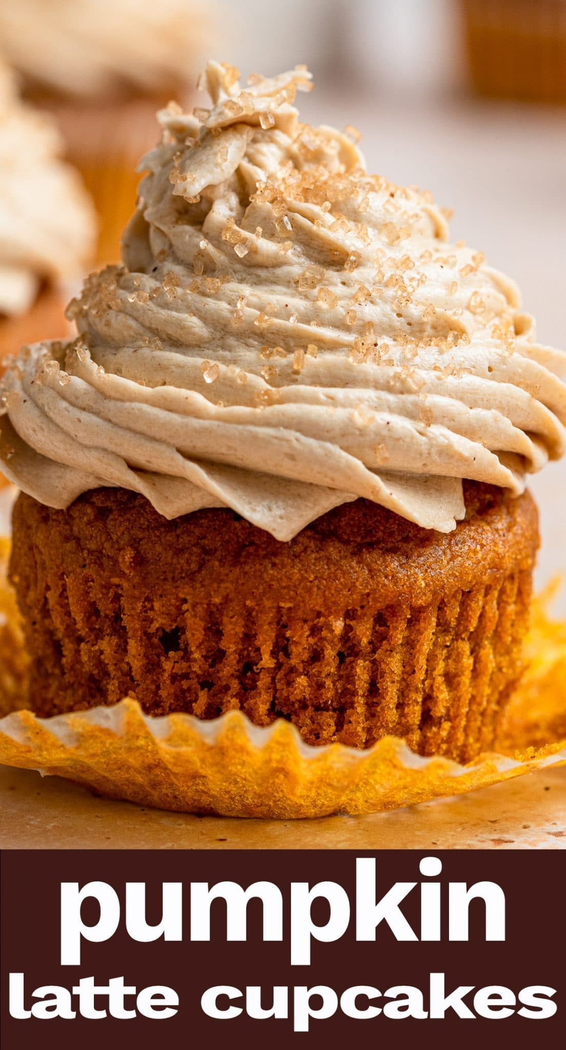 Pumpkin Spice Latte Cupcakes are a perfect fall dessert. Tender and moist, full of warm spices, topped with silky smooth latte buttercream and sprinkled with cinnamon sugar. A perfect dessert to welcome sweater weather. via @thebestcakerecipes