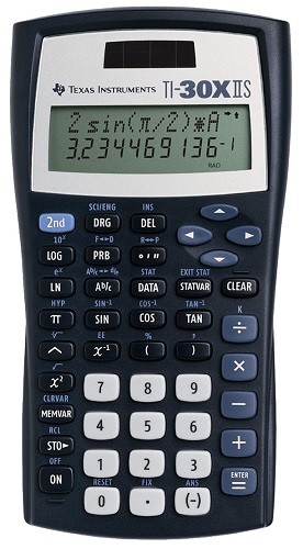 Texas Instruments TI-30X IIS Teacher's Kit that also has a 2-line function that allows users to use the directional keypad