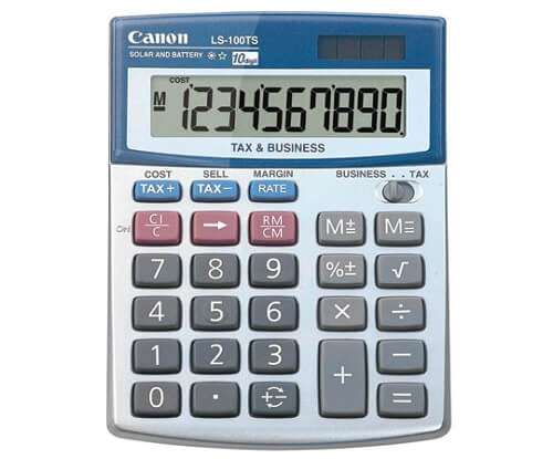 Canon Office Products LS-100TS Business Calculator