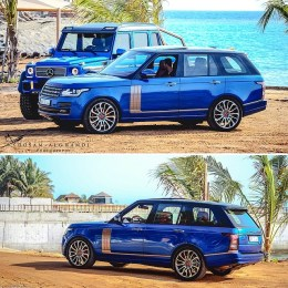 Sea Monster's friends - Range Rover Vogue!