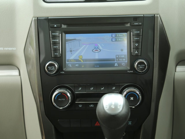 the new Center Console with inbuilt Navigation