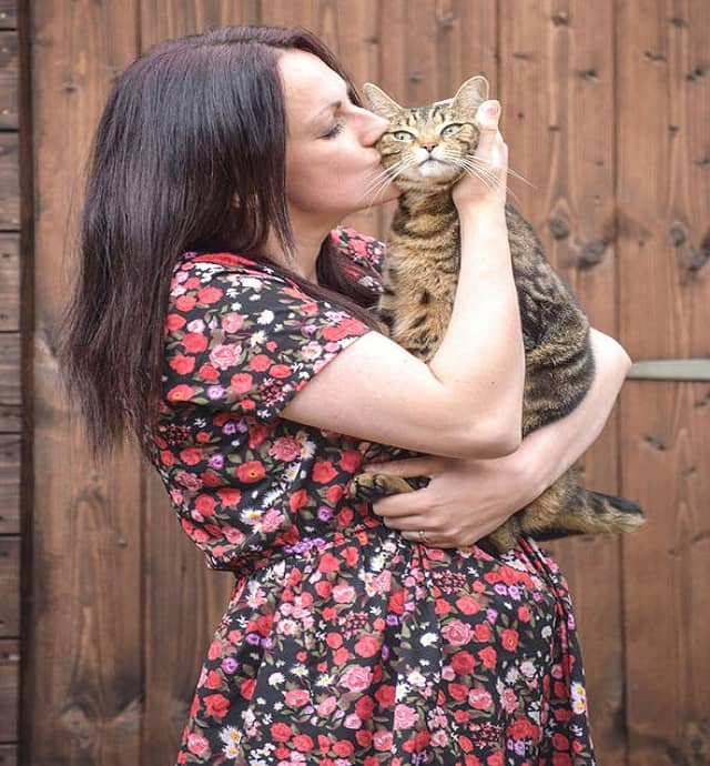 Owner Danielle Evans was petrified that the rare condition could've killed her cat