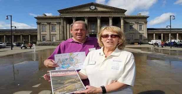 Friends of Huddersfield Station Hazel Spencer and her brother Michael Spencer appeal for new volunteers.