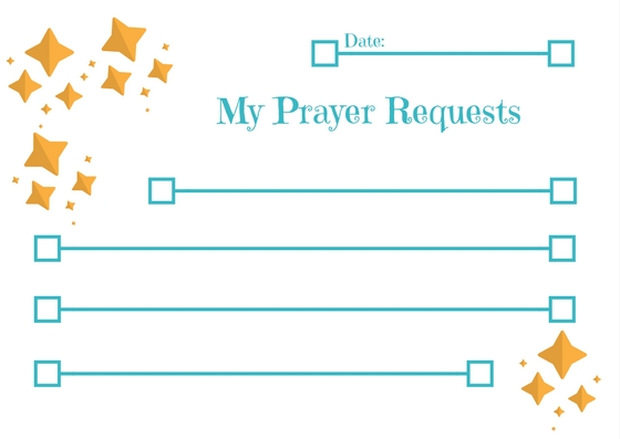 Prayer Request Cards for Kids