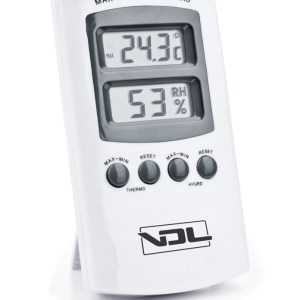 DIGITAL THERMOHYGROMETER WHITE MAX / MIN VDL
