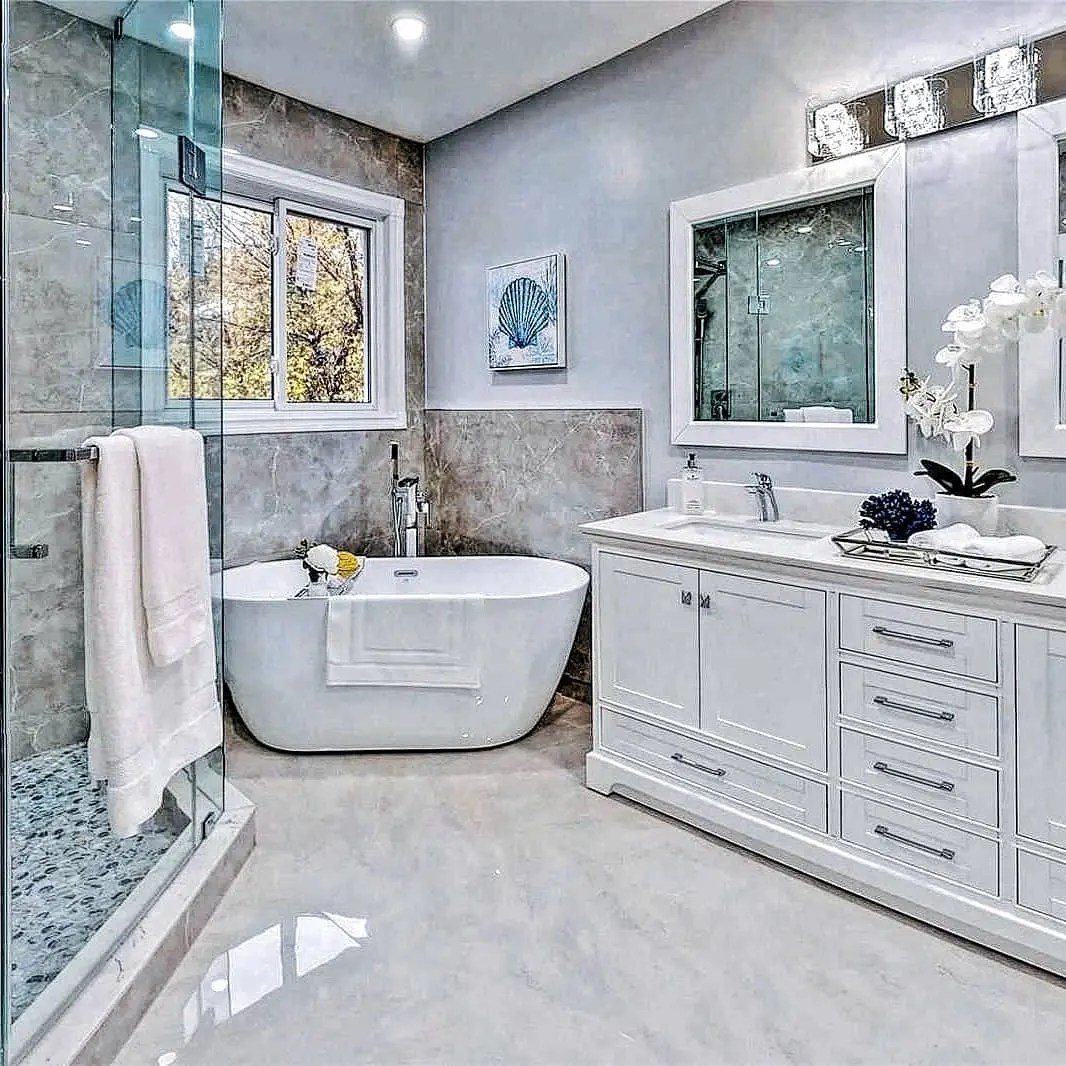 35 Best Grey and White Bathroom Ideas in 2021 - The Best ...