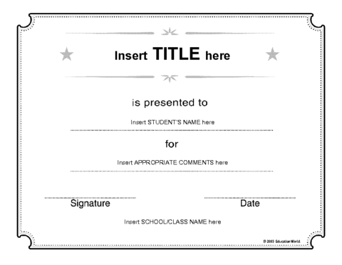 Free Printable Blank Certificate Templates Download - The Best ...