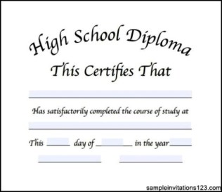high school diploma template publisher