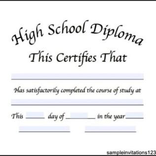 50 free high school diploma template printable certificates