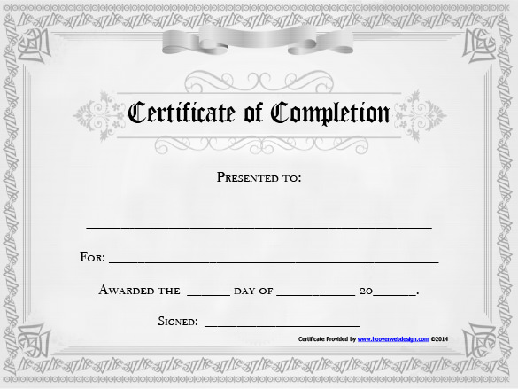 10 free certificate of completion template download certificate of completion template free download yadclub Images