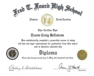 high school certificate of achievement template