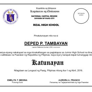 high school diploma template psd